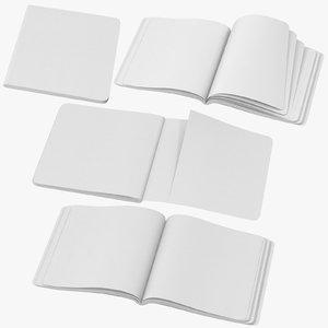 moleskine sketchbooks 02 3D model