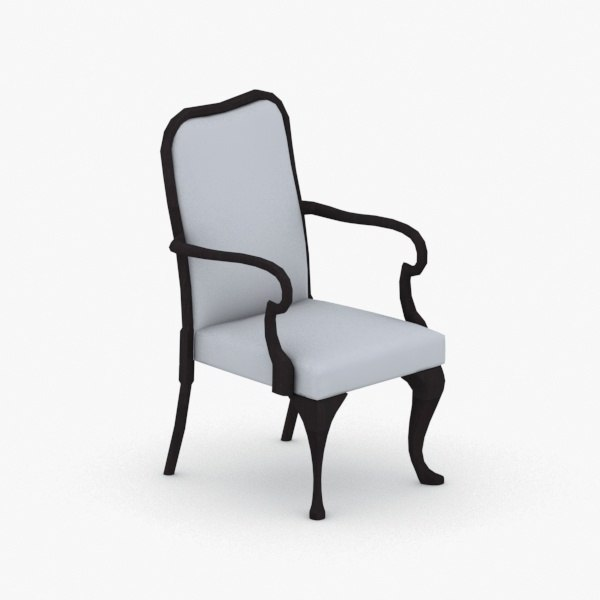 3D interior - armchair chair stool