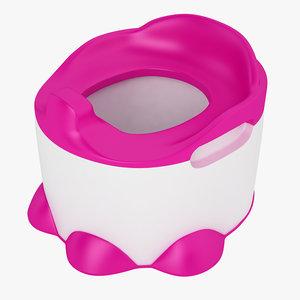 baby toilet bumbo 3D model