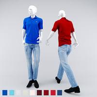 lacoste mannequin man 3D model