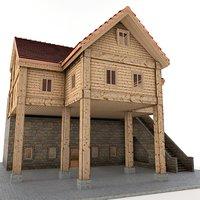 3D farm hut model