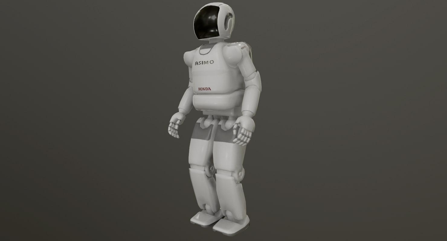 3D asimo robot honda model