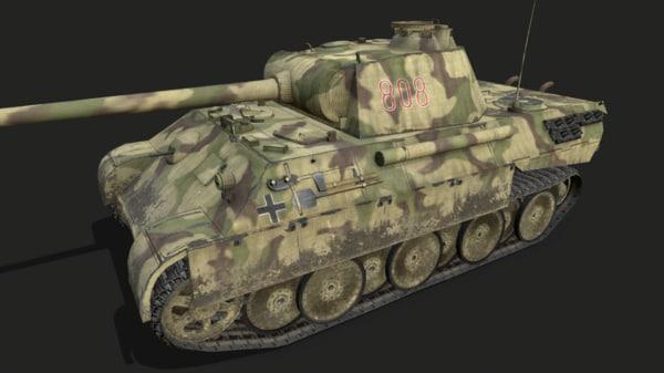 3D model panther german tank