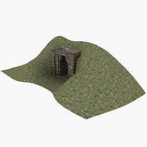 tomb entrance 3D model