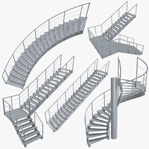 industrial staircases model