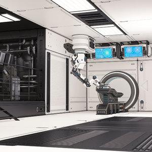 sci fi laboratory 02 3D model