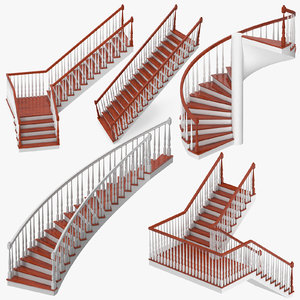 3D model residential staircases