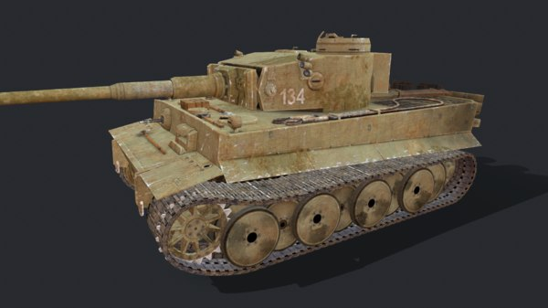 3D model tiger heavy tank