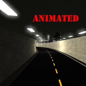 3D model road tunnel