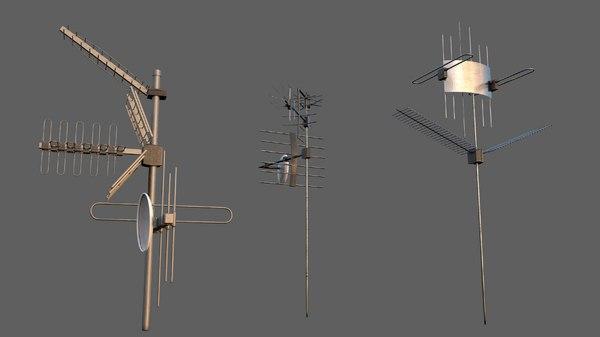 set antennas 3D model