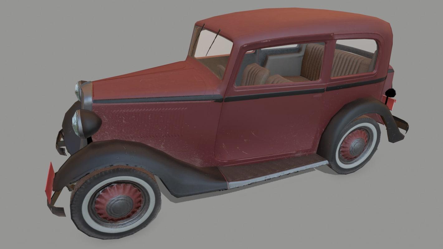 3D fiat 508 model