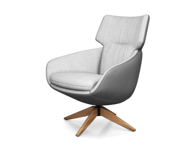 3D lloyd armchair leolux