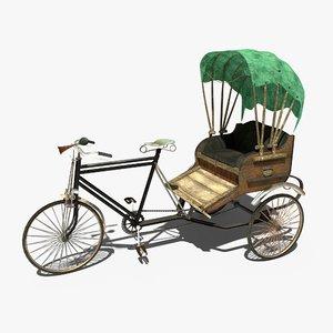 3D model cycle rikshaw