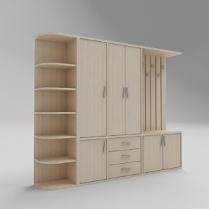 3D cloakroom cloakroo model