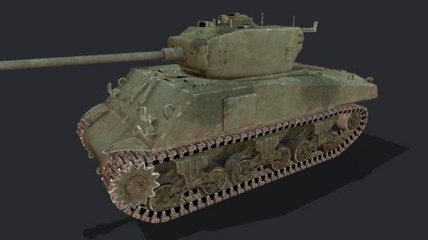 sherman tank 3D