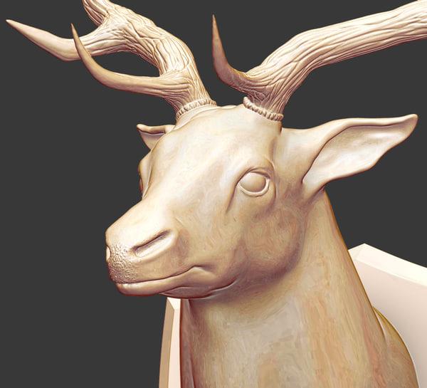 fallow deer 3D model