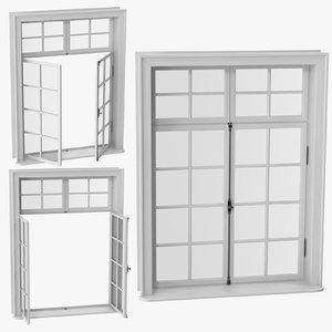 3D classic window 06 model