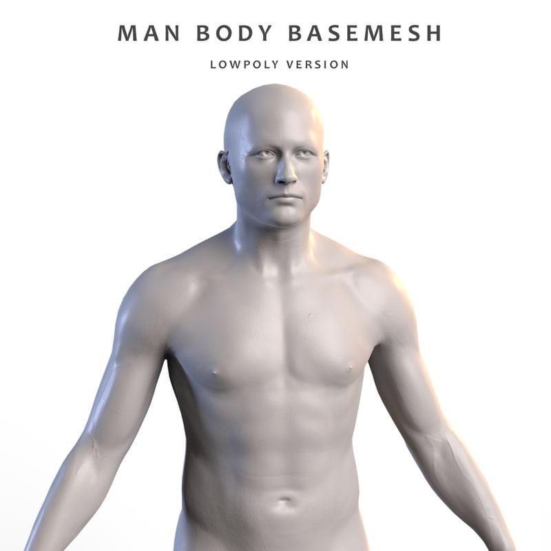man anatomy 3D model