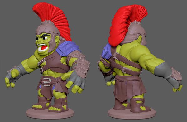 chibi character 3D