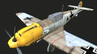 3D messerschmitt bf 109
