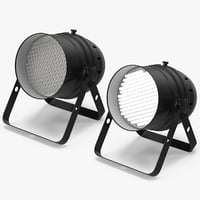 3D theatre stage light 02 model