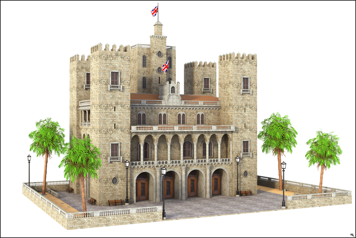 castle building structure model