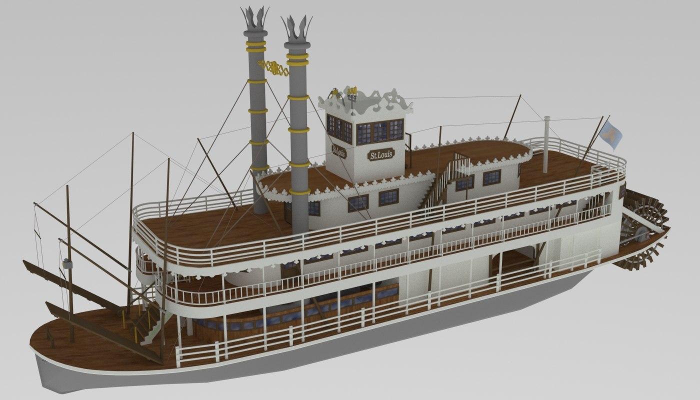 steamboat st louis 3D model