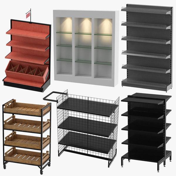 3D retail shelfs production