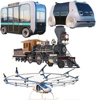 volocopter olli bus vehicle 3D model
