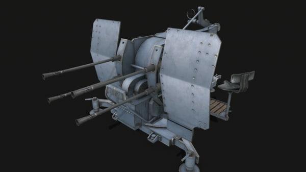 3D gun flak 38 model