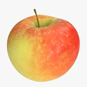 3D apple photorealistic scaned
