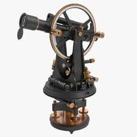 vintage theodolite 3D model