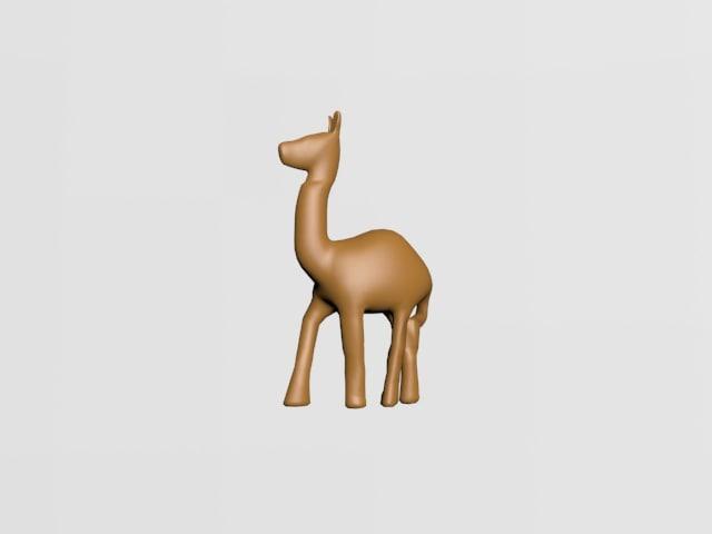 statue camel 3D model