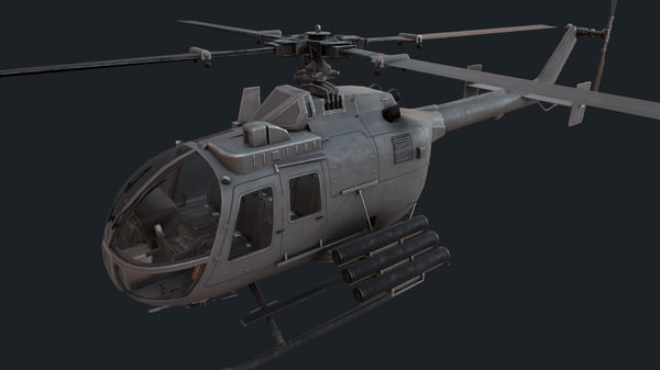 bo 105 mbb 3D model