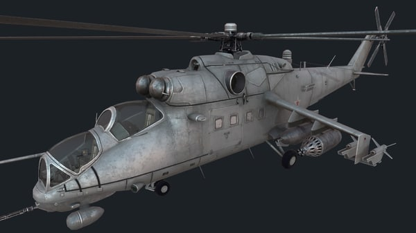 mi-35m helicopter attack 3D model