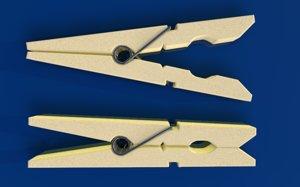 3D clothespin clothes pin
