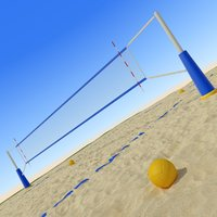 beach volley ball 3D model