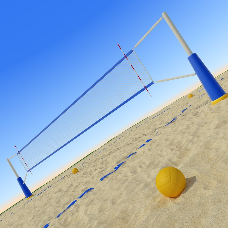 beach volley ball 3D model