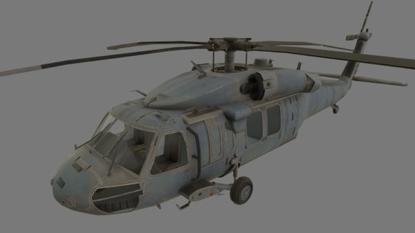 3D uh-60 black hawk helicopter