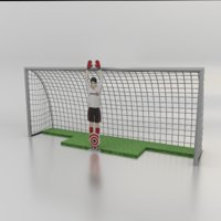 football soccer robot goalkeeper 3D model