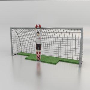 football soccer robot goalkeeper 3D model