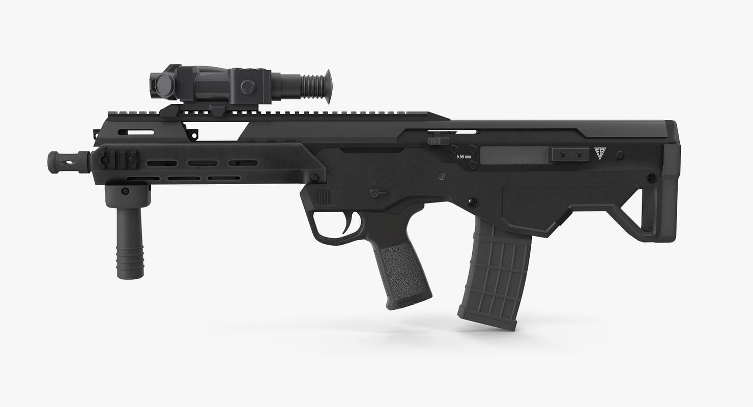 msbs assault rifle 3D model