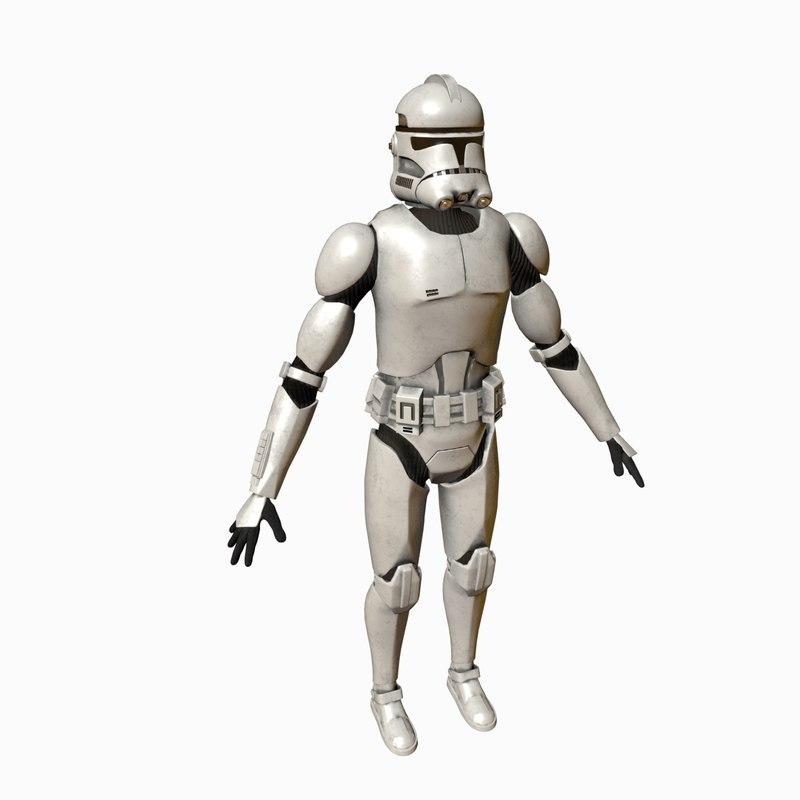 3D model star wars clone trooper
