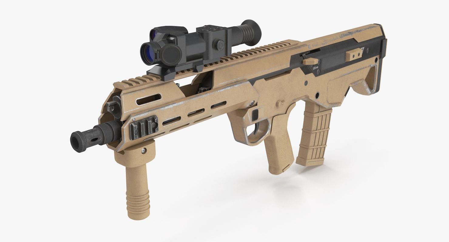 3D msbs assault rifle