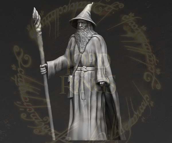 gandalf lord rings hobbit 3D model