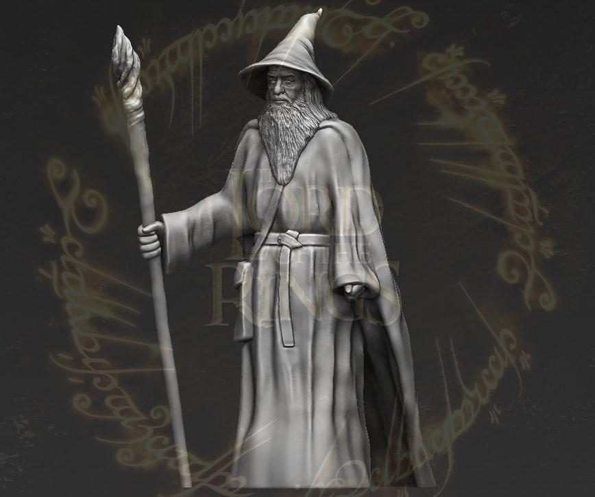 gandalf lord rings hobbit 3D model