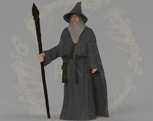 gandalf lord rings hobbit 3D