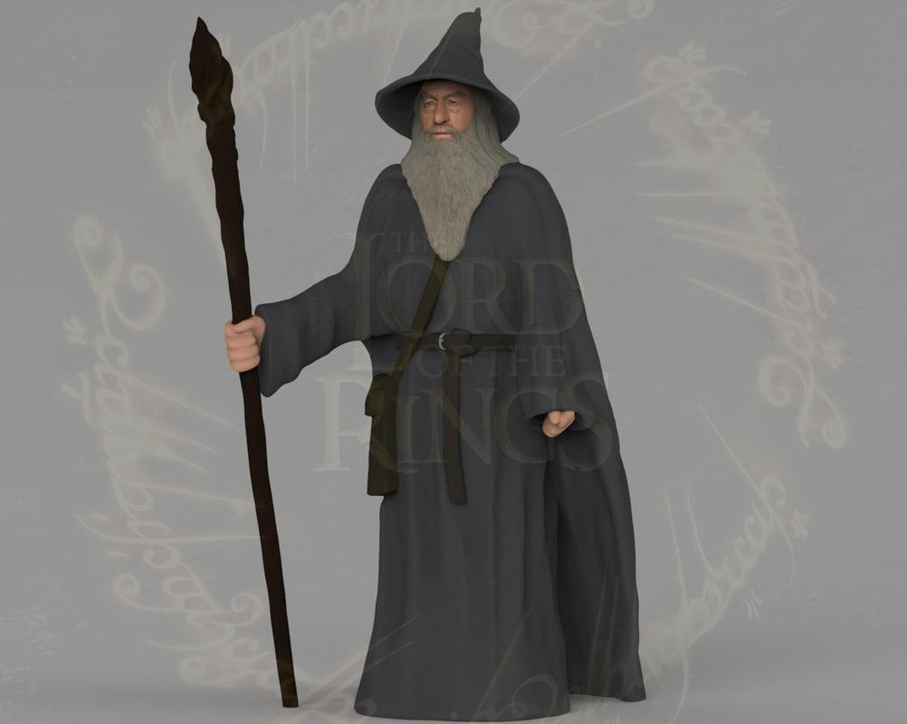 gandalf lord rings hobbit 3D