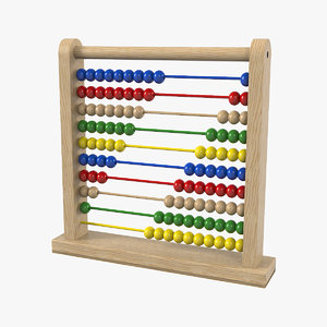 classic wooden educational counting 3D model