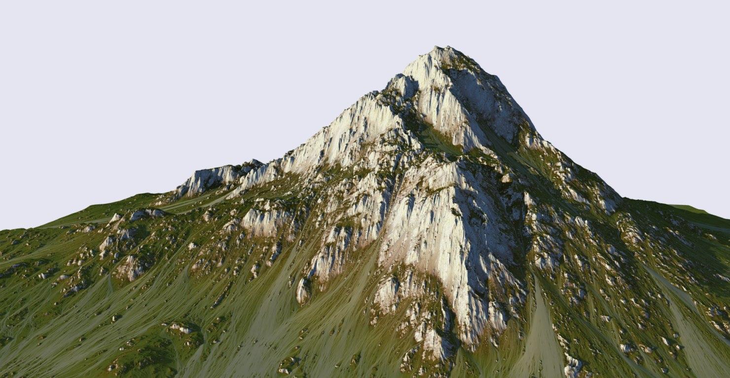 grass mountain 3D